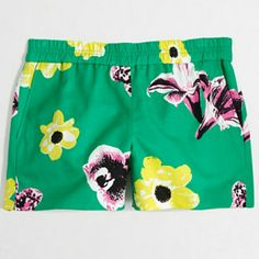 j crew// punk floral shorts Pull on shorts in retro floral print. From factory. In great condition. J. Crew Shorts