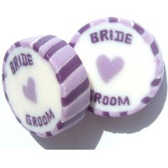 Rock wedding favours