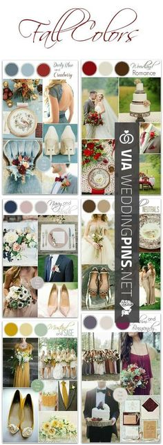 Wedding Colour Schemes 2017 – Fall wedding color ideas. http://www.thebridelink….