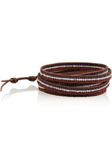 Chan Luu Leather and bead five wrap bracelet | THE OUTNET