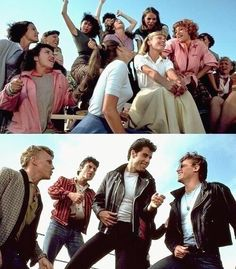 Find images and videos about movie, grease and John Travolta on We Heart It - the app to get lost in what you love. Grease 1978, Grease Movie, Grease Boys, Grease Musical, T Birds Grease, John Travolta E Olivia, Mean Girls, Movies Showing, Movies And Tv Shows