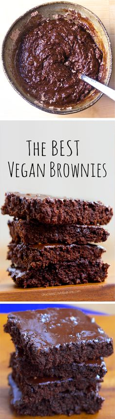 The ONE Vegan Brownie Recipe, these fudgy chocolate brownies do not taste vegan at all!