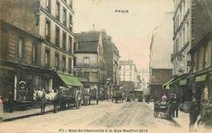 rue de Charonne - Paris 11ème - Belle vue de la rue de Charonne au niveau de la rue Basfroi, vers 1900.
