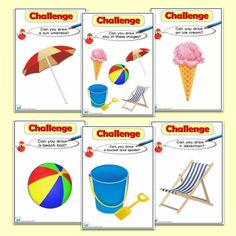 A vibrant set of Seaside ICT Drawing Challenges for the Foundation Phase, to help promote ICT skills across the curriculum. Seaside Theme, Sea Theme, Challenge Cards, Drawing Challenge, Sharing A Shell, Lighthouse Keepers Lunch, Computing Display, Role Play Areas, Home Learning