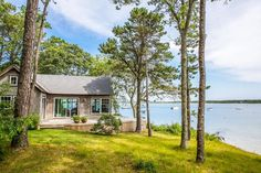 This patio would work perfect for S.L. cabin off the MBR - Judy Blume House - Martha's Vineyard Home - Country Living......