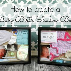 24 ideas for baby diy ideas pregnancy shadow box Shadow Box Baby, How To Shadow Box, Newborn Shadow Box, Diy Bebe, Shower Bebe, Foto Baby, Baby Memories, Baby Keepsake, Baby Birth