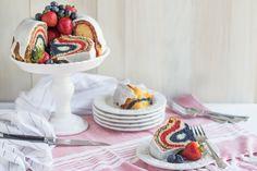 Red, White, and Blue Velvet Bundt Cake