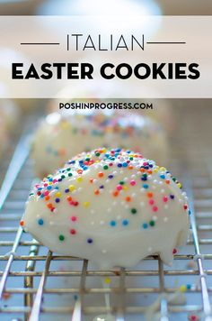 Stacey shares a recipe for egg-shaped Italian Easter cookies. She also talks about how her own Italian grandmother would make them each year. Italian Easter Cookies, Easter Cookie Recipes, Italian Cookie Recipes, Italian Desserts, Italian Anise Cookies, Italian Ricotta Cookies, Italian Christmas Cookies, Italian Easter Bread, Italian Wedding Cookies