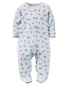Carter's Blue Floral Cotton Snap Up Sleep & Play 6 Months. Carter's Blue Floral Cotton Snap Up Sleep & Play 6 Months. Snap Up Romper. One Piece. Baby Girl Pajamas, Carters Baby Girl, Baby Boy, Baby Girl One Pieces, Baby Swag, Baby Shirts, Summer Baby, 1 Piece, Baby Girls