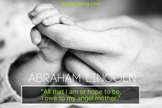 Sometimes a card can say it all!  Here are 8 quotes to inspire a heartfelt card to Mom this Mother's Day. #mothersday #mothersdayquotes #mothersdaycards #abrahamlincoln