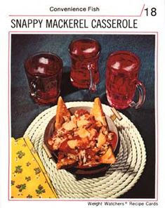 "Well, as adjectives for mackerel go, you could do worse than ""snappy."" Snappy! So snappy you need three glasses of cranberry juice to wash it down!"