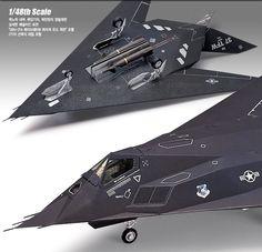 F-117A Stealth Night hawk USAF Airforce 1/48 Academy Plastic Model kit #Academy