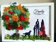 Pictures are some examples of my work done ✅ Custom made frames with silhouette images and vector👨👩👦👥  Different themes like wedding, family with kids, couples, pregnancy, newborn, friendship and many others. Frames are made in 1 day. Images are printed on A4 glossy photo paper with A4 frame size. Grass Silhouette, Silhouette Images, Colorful Trees, Green Trees, Moss Wall Art, Personalised Prints, Frame Crafts, Plant Decor, Creative Gifts