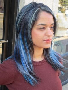Meagan good inspired extensions the shaved side hair blue silver fantasy hair extensions chicago pmusecretfo Gallery