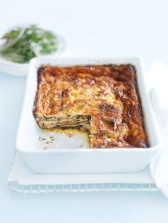fast weeknight dinner: eggplant, ricotta and parmesan bake @Lucie Cheyer-White Systems #cheesechallenge