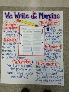 annotating text anchor chart, helpful for teaching close reading