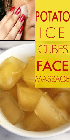 Amazing Potato Ice Cube Face Massage For Radiant Skin #potato #icecubes #radiantskin #beautifulskin #naturalremedies #beauty #beautytips Natural Hair Mask, Natural Hair Styles, Natural Skin, Natural Beauty, Natural Life, Beauty Care, Beauty Skin, Diy Beauty, Beauty Ideas