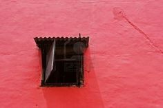 . Wooden Windows, Red Walls, Pink, Florence, Wooden Window Boxes, Wood Windows, Pink Hair, Roses, Red Painted Walls