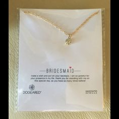 """Bridesmaid Rhinestone Pendant A lovely rhinestone center stone on an 18"""" chain with a 2"""" extender. A gift for your bridesmaids that shows how much you care and makes your wedding day complete! I have two for sale, which are eligible for my 10% bundle discount! Dogeared Jewelry Necklaces"""