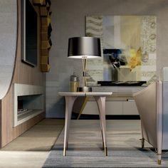 Melting Light side table | TURRI | Made in Italy furniture Light Side, Ceiling Design, Corner Desk, Improve Yourself, Shelves, Italy, Design Bedroom, Furniture, Home Decor