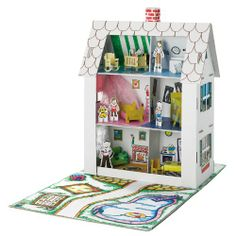 Creativity for Kids Cardboard Doll House | Dolls-Houses.co.uk