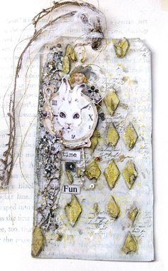 "Scraps of Elegance: Mini Challenge at More Than Words this week- Use the word, ""Fun"" on a Card, Tag, or ATC Art Journals, Art Journal Pages, Junk Journal, Journal Covers, Card Tags, Gift Tags, Mixed Media Cards, Handmade Tags, Handmade Crafts"