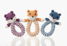 Organic, fair trade hand rattles, suitable from birth and fro everyone