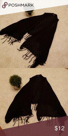 Black crochet fringe vest Black crochet fringe vest Sew What Jackets & Coats Vests