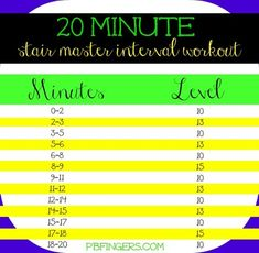 20 Minute Stair Master Interval Workout