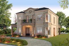 House Plans Mansion, Dream House Plans, Modern Prairie Home, Small Modern House Plans, Village House Design, House Design Pictures, Home Design Floor Plans, English House, Dream House Exterior