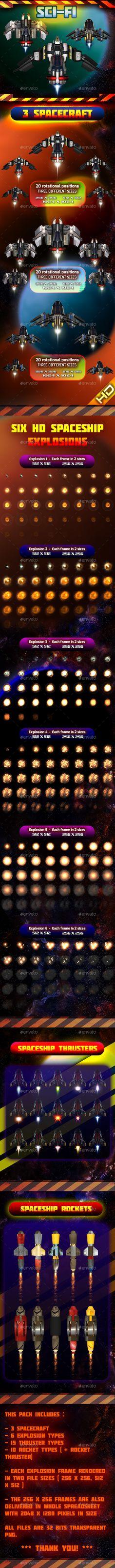 Spaceship Pack 30 - Sprites #Game Assets Download here: https://graphicriver.net/item/spaceship-pack-30/15859384?ref=alena994