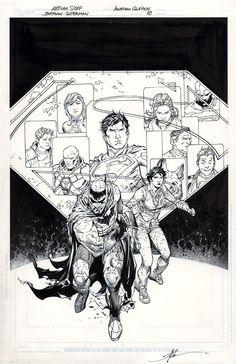 Batman/Superman #18 by Ardian Syaf, inks by Jonathan Glapion *