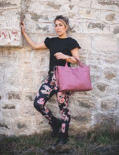 Leather top handle crossbody bag in pink by morelle Luxury Handbags, Pink Tops, Handle, Photoshoot, Purses, Crossbody Bags, Leather, Collection, Handbags