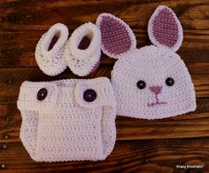 Crochet White With Light Purple Infant Girl by KrazyKrochetin