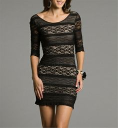 Gold Dress w/ Black Lace Overlay...This is awesome.