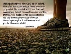 I really hope someday running really does feel like a habit. One day at a time.