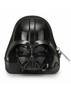 Star Wars Darth Vader Darkside Black 3-D Coin/Clutch Bag by Loungefly (Black)