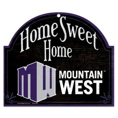 Mountain West Conference 10'' x 11'' Home Sweet Home Tier Wood Sign