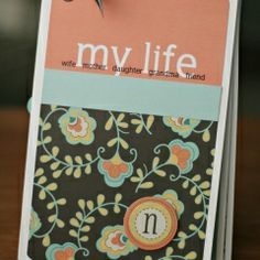 FREE mother's day mini album digi template