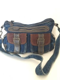 Jeans Denim Bag Designer Fashion Boho Hip Multi Pockets   #Unbranded…