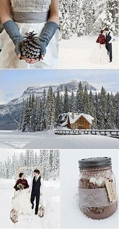 A winter love love wedding couples outdoors winter trees snow
