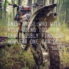 For the sweet love of MOTOCROSS! Our ultimate list of motocross quotes are dirty, funny, serious and always true. Check out our favorite motocross sayings Motocross Quotes, Dirt Bike Quotes, Racing Quotes, Biker Quotes, Motorcycle Quotes, Motocross Girls, Motocross Gear, Girl Motorcycle, Motocross Bedroom