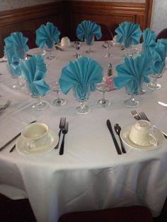 Set of 12 Dinner Napkins in Aqua Blue Gabardine 19 x 19 Wedding Party Reception Dinner - Tischdekoration - Wedding Napkins, Wedding Table, Wedding Ceremony Backdrop, Reception, Party Centerpieces, Wedding Decorations, Blue Wedding, Wedding Colors, Wedding Wine Glasses
