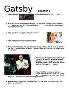 the great gatsby chapter 1 questions pdf