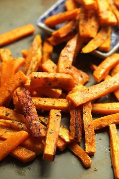 Garlic Butter Sweet Potato Fries are just plain magical y'all! Seriously fries have never had it...
