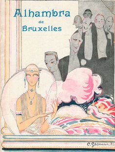 Cover design by Charles Gesmar, 1924, Alhambra de Bruxelles.