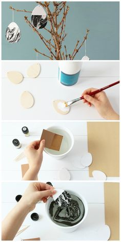 DIY-Anleitung: Ostereier in Marmor-Look findest du auf unserem Blog. Tolle & individuelle Idee für deine Osterdekoration. Diy Cadeau, Happy Easter, Projects To Try, Creations, Clay, Cool Stuff, Tableware, Easter Ideas, Gifts
