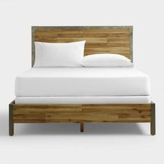 Combining rustic wood construction with metal accents, our bed is an industrial-inspired bedroom centerpiece. Make a put-together style statement when you pair it with our coordinating chest and nightstand.