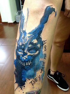 victor octaviano - donnie darko tattoo I would never get it but I friggin love that movie.