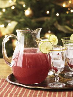 Pomegranate Margaritas - made them for christmas,  could do a little less tequila